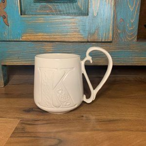 "Pottery Barn A-Z Mugs Coffee Cup Letter ""K"""